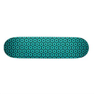 Polygons v1 - Black and Cyan 20 Cm Skateboard Deck