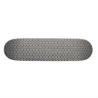 Polygons v2 - Black and White 21.6 Cm Skateboard Deck