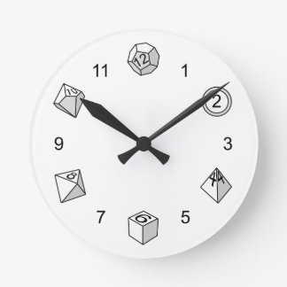 Polyhedral Dice - Round Clock