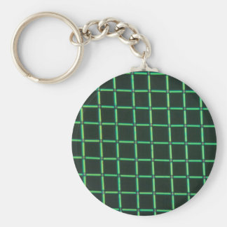 Polylactic acid under the microscope basic round button key ring