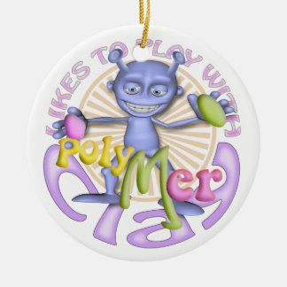Polymer Clay Artists Personalized Ornament