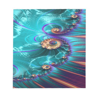 polymeric shank fractal notepad