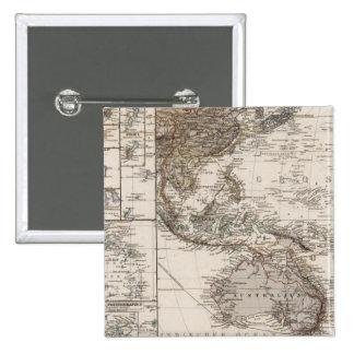 Polynesia Map 15 Cm Square Badge