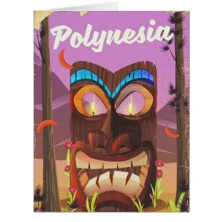 Polynesia Tiki mask Card