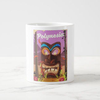 Polynesia Tiki mask Large Coffee Mug