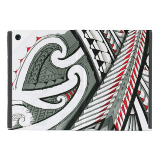 polynesian art red grey tattoo design island hawai iPad mini cover