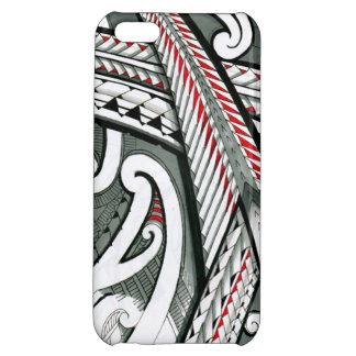 polynesian art red grey tattoo design island hawai iPhone 5C cases