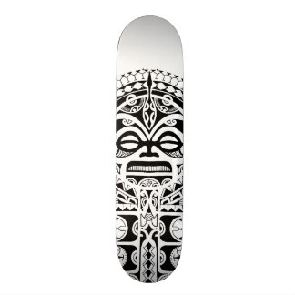 Polynesian Tiki tribal mask tattoo Custom Skate Board