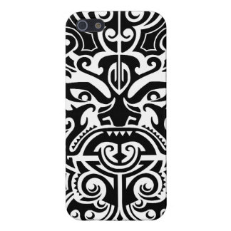 Polynesian Tribal Face 2 iPhone 5/5S Cases