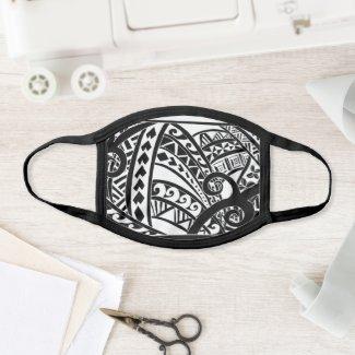 Polynesian Tribal Face Mask