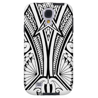 Polynesian tribal tattoo with bold patterns galaxy s4 case