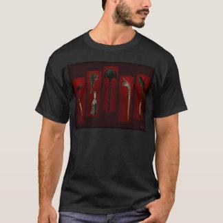 Polynesian Weapons Tikis On Back T-Shirt