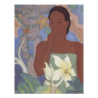 'Polynesian Woman and Tiki' - Arman Manookian Poster