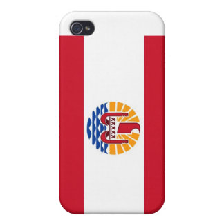 Polynsesian Pride: Flag of TAHITI Cover For iPhone 4