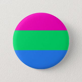 Polysexual pride flag 6 cm round badge