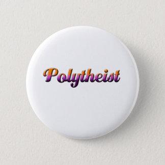 polytheist 6 cm round badge