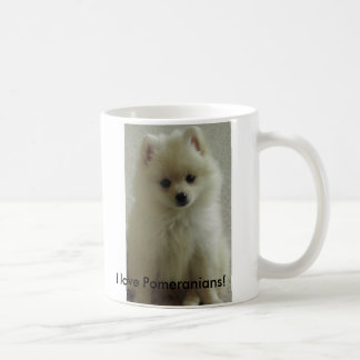 pom, I love Pomeranians! Coffee Mug
