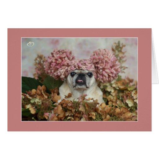 Pom Pom Pug Card
