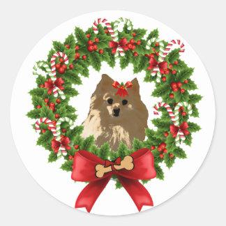 Pom Wreath Holiday Sticker
