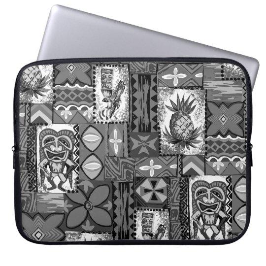 Pomaika'i Tiki Hawaiian Vintage Tapa Laptop Sleeve