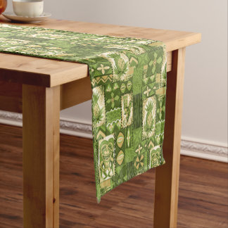 Pomaika'i Tiki Hawaiian Vintage Tapa Short Table Runner