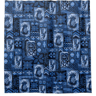 Pomaika'i Tiki Hawaiian Vintage Tapa Shower Curtain