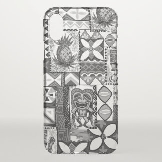 Pomaika'i Tiki Pineapple Hawaiian Vintage Tapa iPhone X Case