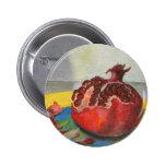 pomegranate 6 cm round badge