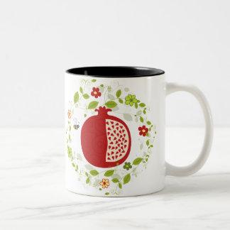 Pomegranate and Honey Bees Coffee Mug