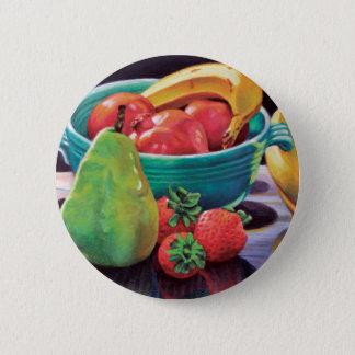 Pomegranate Banana Berry Pear Reflection 6 Cm Round Badge