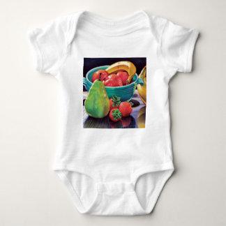 Pomegranate Banana Berry Pear Reflection Baby Bodysuit