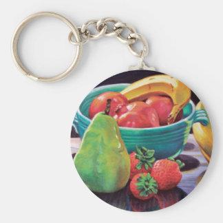 Pomegranate Banana Berry Pear Reflection Key Ring