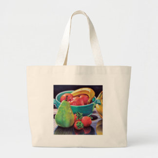 Pomegranate Banana Berry Pear Reflection Large Tote Bag