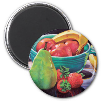 Pomegranate Banana Berry Pear Reflection Magnet