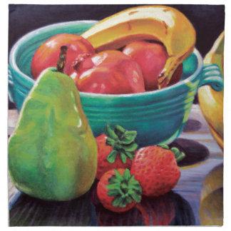 Pomegranate Banana Berry Pear Reflection Napkin