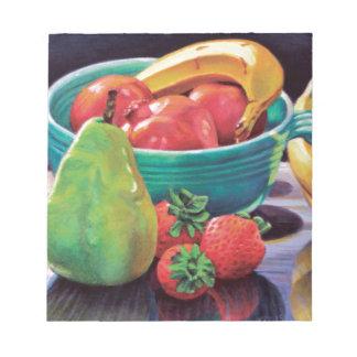 Pomegranate Banana Berry Pear Reflection Notepad