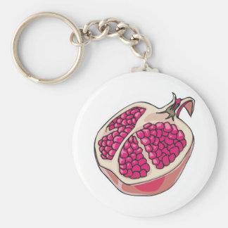 pomegranate basic round button key ring