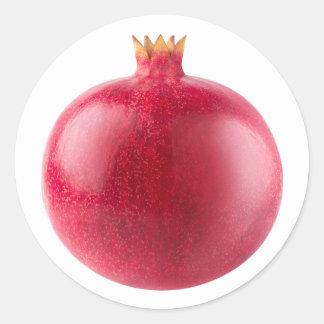 Pomegranate Classic Round Sticker