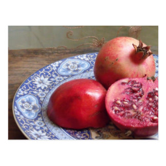 Pomegranate Fruit Still Life Postcard