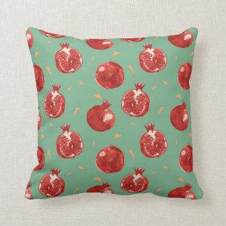 Pomegranate Fruit Vector Seamless Pattern Cushion