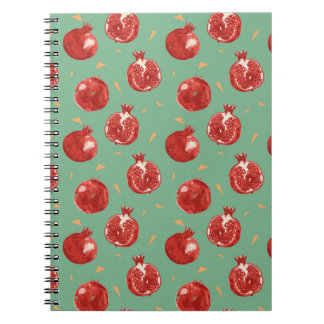 Pomegranate Fruit Vector Seamless Pattern Notebook