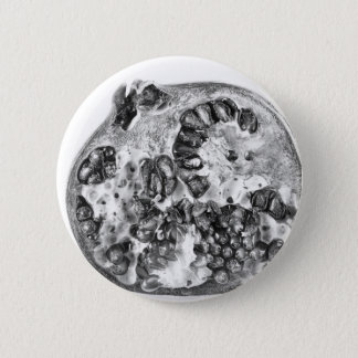 Pomegranate in Black and White 6 Cm Round Badge