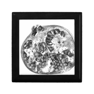 Pomegranate in Black and White Gift Box