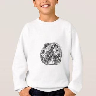 Pomegranate in Black and White Sweatshirt