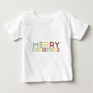 Pomegranate Ink - Merry Christmas Multicolor Baby T-Shirt