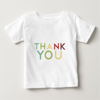Pomegranate Ink - Multi Color Thank You Baby T-Shirt