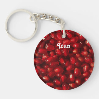 Pomegranate Single-Sided Round Acrylic Key Ring