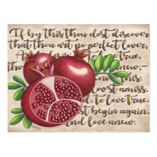 Pomegranate Love Once Again Postcard