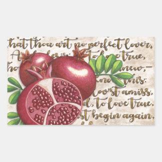 Pomegranate Love Once Again Rectangular Sticker