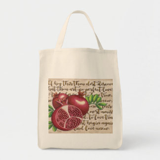 Pomegranate Love Once Again Tote Bag